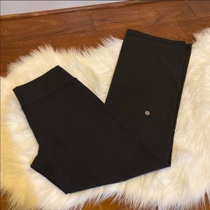 Lululemon Athletica Black Flare Leg Pants Size 8